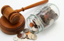 Судейский молот и деньги в банке